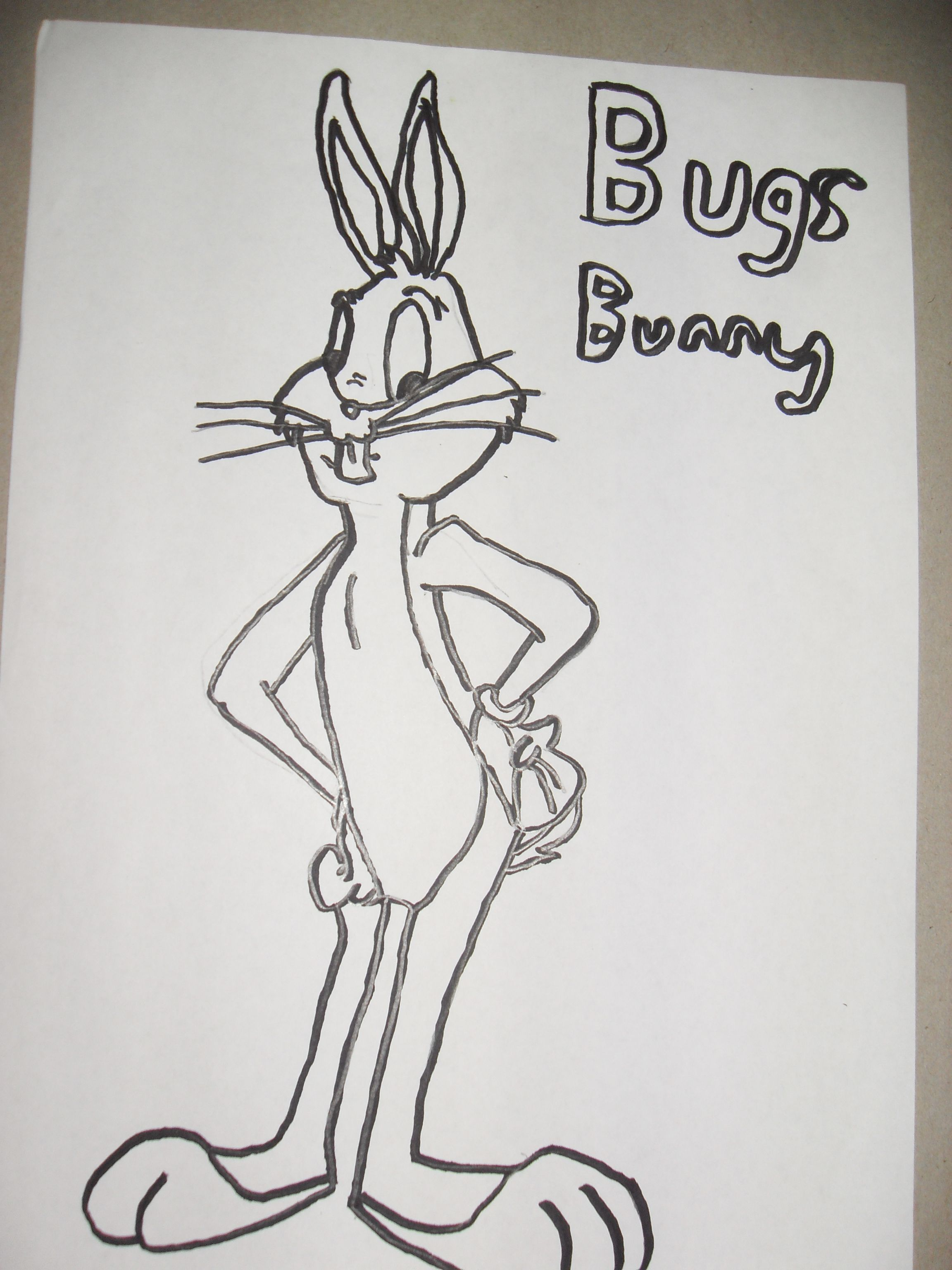 Bugs Bunny Tattoos Bugs bunny drawing | Bugs Bunny Tattoo Drawings ...