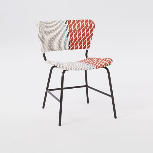 $199 (+15% Discount) Colorblock Woven Chair