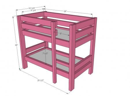 american girl doll bed plans