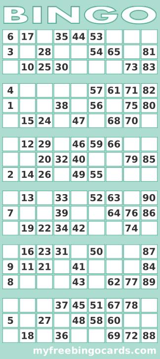 Printable 1 90 Uk Bingo Card Generator Bingo Party Free