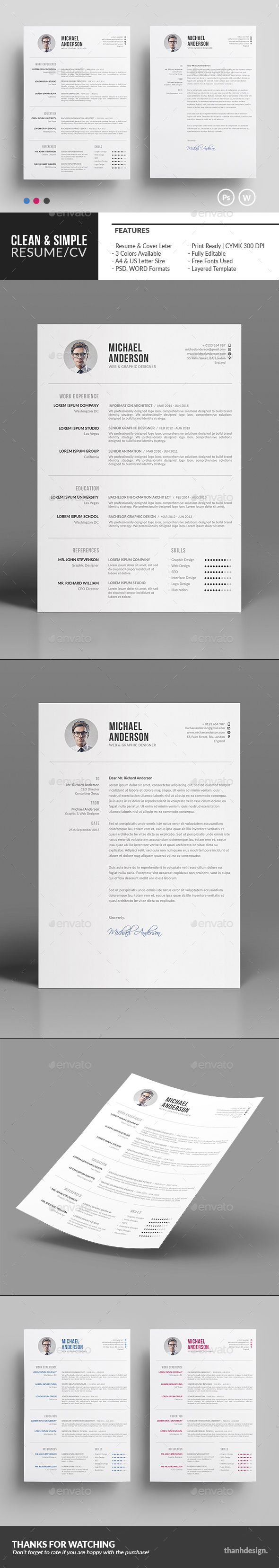 The Resume  Cv  Resume Cv Cv Template And Simple Resume