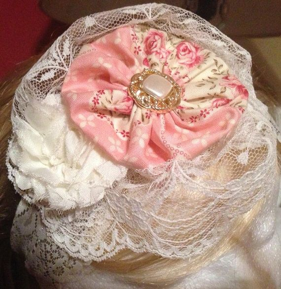 Antique Rose Lace and Chifon on Etsy, $12.00
