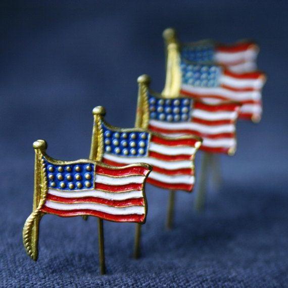 Vintage Usa Flag Enamel Pin Presidential By Mademoisellechipotte Vintage American Flag Vintage Usa Usa Flag