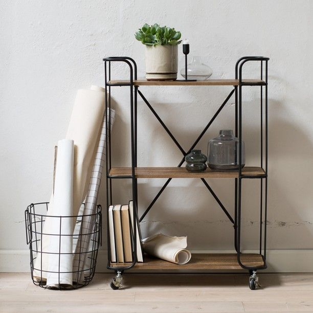 A well-proportioned shelving unit with four swivelling wheels that make it easy to move the furniture around in your interior decor. Available in two sizes: 62,5x30,5x86 cm and 82x33x97 cm. Prices from DKK 298,00 / SEK 424,00 / NOK 418,00 / EUR 41,84 / ISK 7396 / GBP 42.48