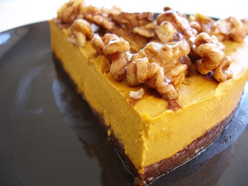 Raw Sweet Potato Pie. For some reason raw desserts taste better to me. #glutenfree #pumpkin