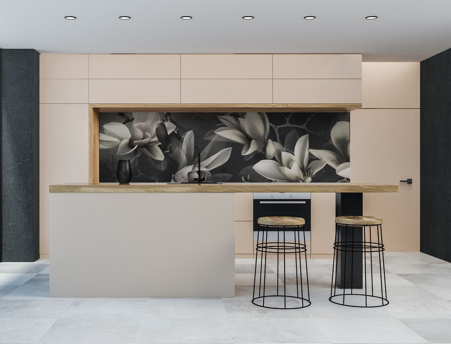 Printed 'images on glass' kitchen splashbacks and glass ...