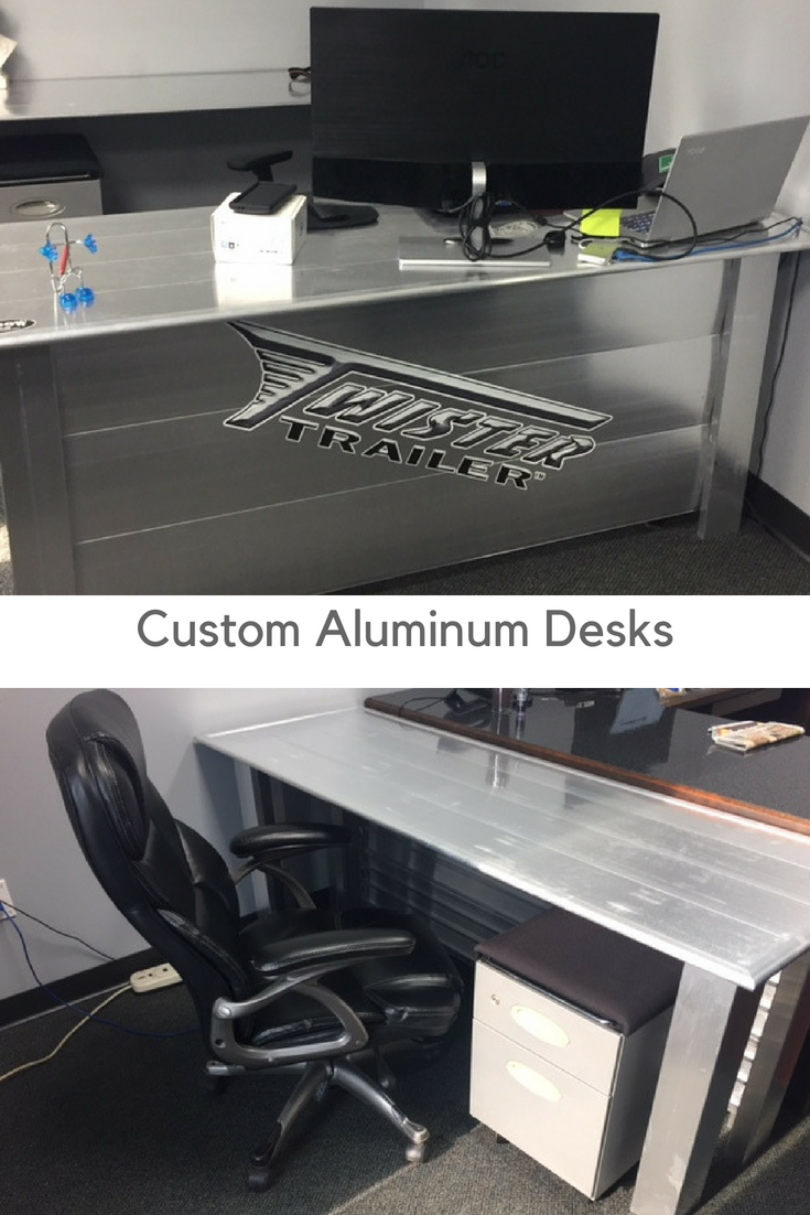 We Saved Money, Used Scrap Material, And Designed Some COOOL Aluminum Mens Office  Desks. You Can Read About The Project Here.