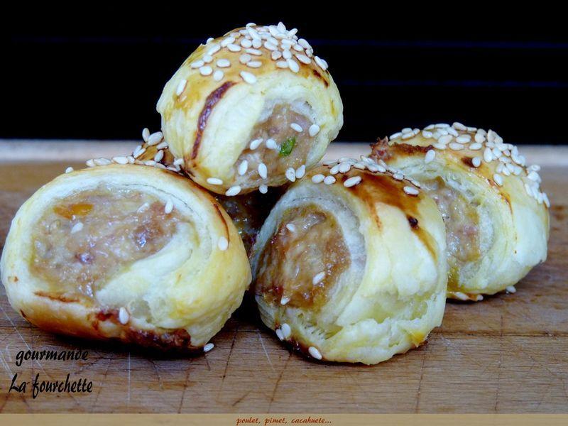 Feuilletes Poulet Beurre De Cacahuete La Fourchette Gourmande