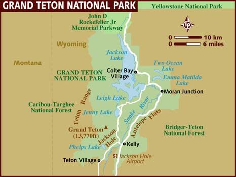 Grand Teton National Park Is Set In The Jackson Hole