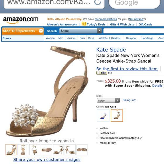 Wedding shoes for Lindsay?