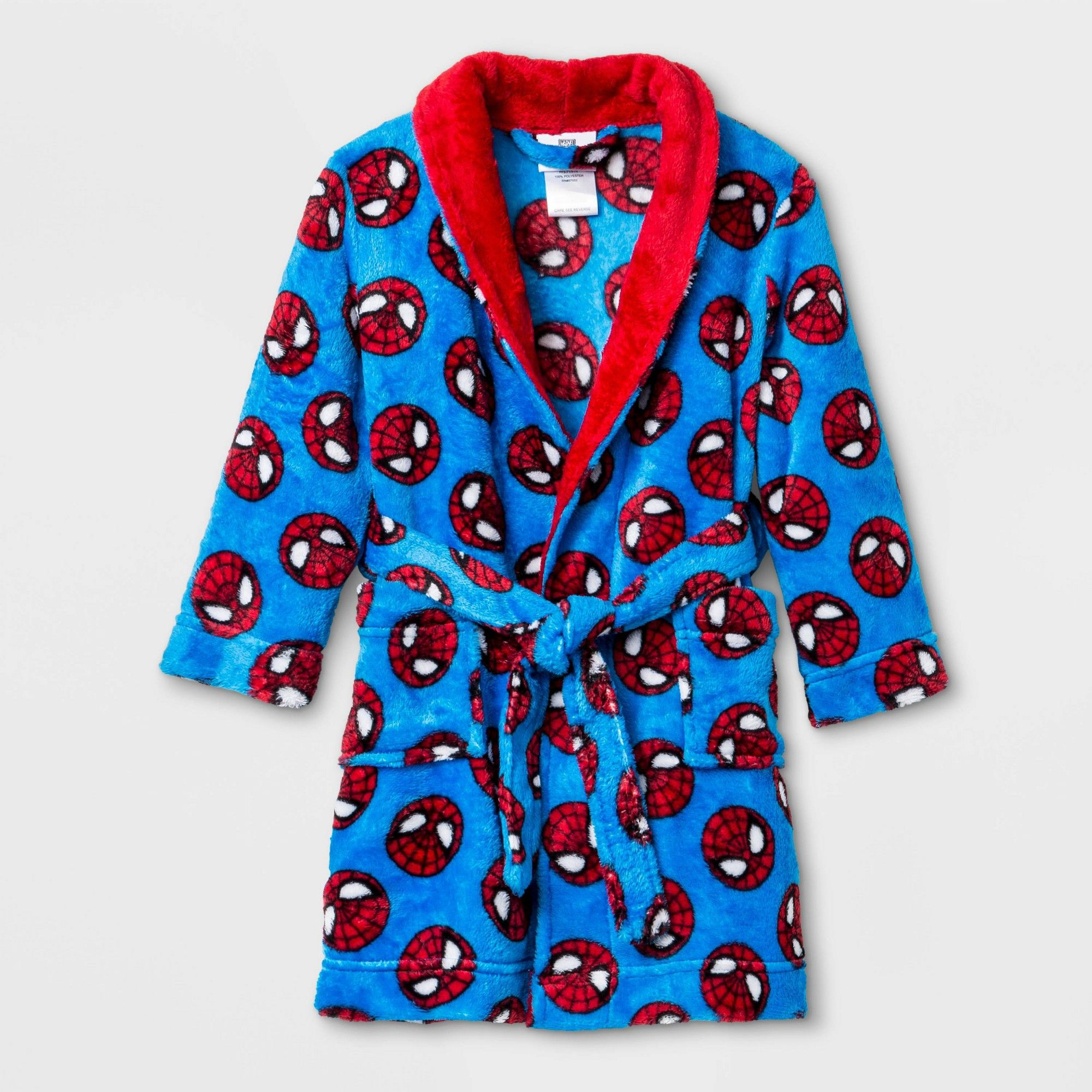 Marvel Spiderman Little Boys Coat Pajamas Set Blue