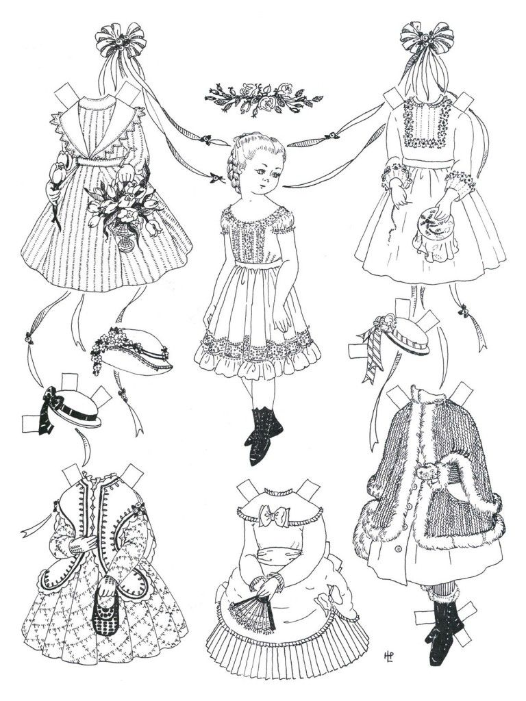 Paper Dolls And Paper Doll Dresses Printable From Kid Fun Paper Dolls Printable Paper Dolls Vintage Paper Dolls