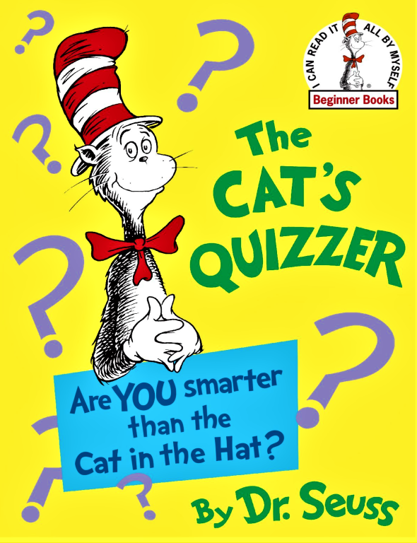The Cat S Quizzer Are You Smarter Than The Cat In The Hat By Dr Seuss Pdf Bygone Buyz In 2021 Beginner Books Dr Seuss Books Seuss