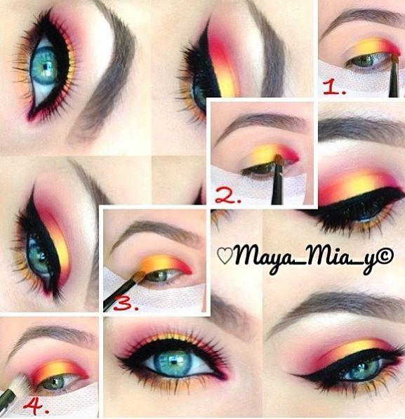 Maquillaje de ojos de verano - #maquillaje #verano