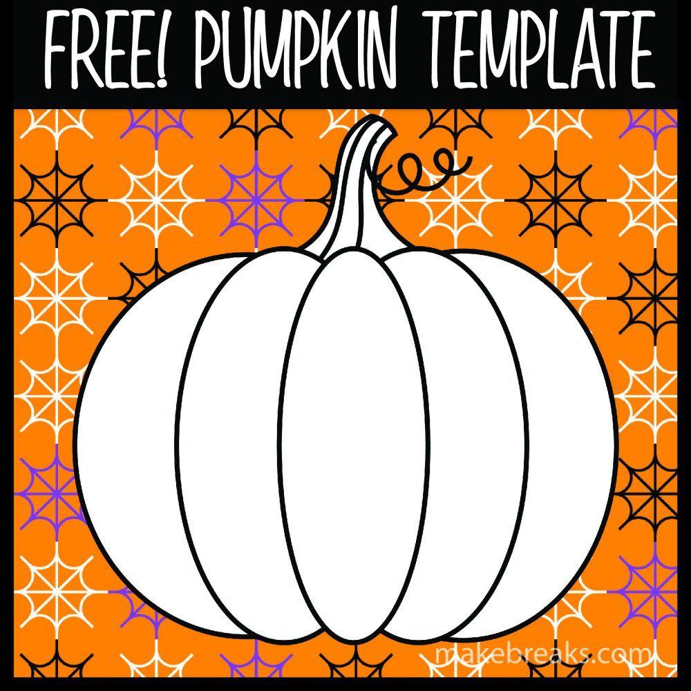 pumpkin template thanksgiving  Free Halloween and Thanksgiving Pumpkin Template | Pumpkin ...