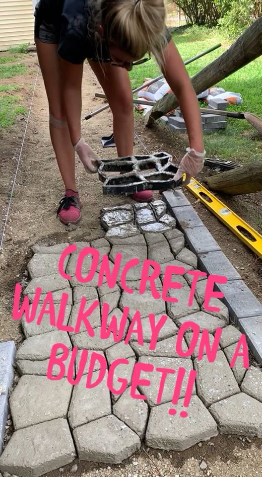 Budget Concrete Walkway Mold Walk Path Maker Brick Concrete Form