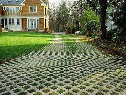 stationnement gazon revetement sol exterieur alle carrossable dco jardin projets de jardins cour intrieure tout pour la maison style contemporain