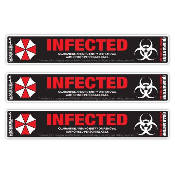 10pc Umbrella Corporation Infected Resident Evil Vinyl