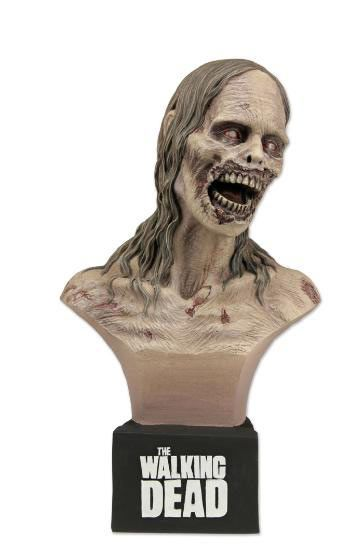 Busto The Walking Dead. Chica Zombie, 17 cms. NECA