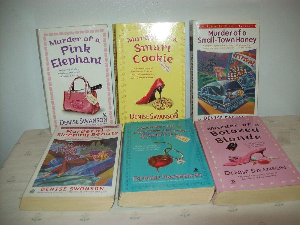 Scumble River Mysteries Denise Swanson Murder Paperbacks Lot of 6