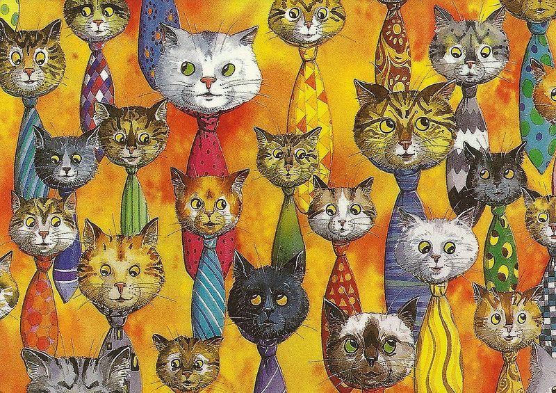 NL-2078811 | Кошачий арт, Иллюстрации кот и Собачье искусство