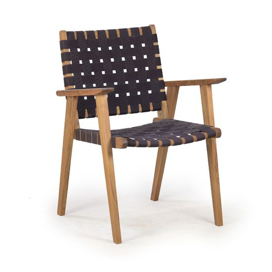 fch281 vega strap dining arm chair   outdoor chairs from satara