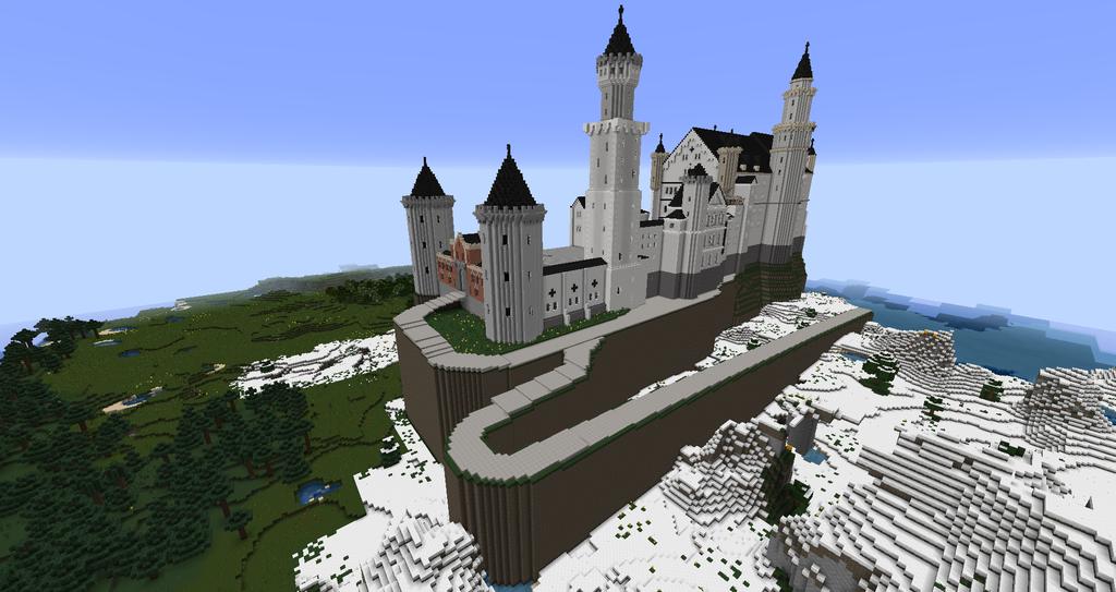 Minecraft Neuschwanstein Castle Neuschwanstein Castle Castle Real Castles