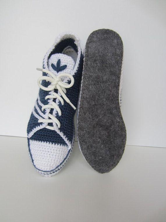 Adidas Nike Gehäkelte Babyschuhe Turnschuhe häkeln von ...