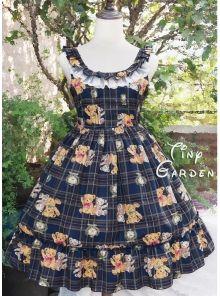 Cute girl Teddy Printing Vest Lolita Dress