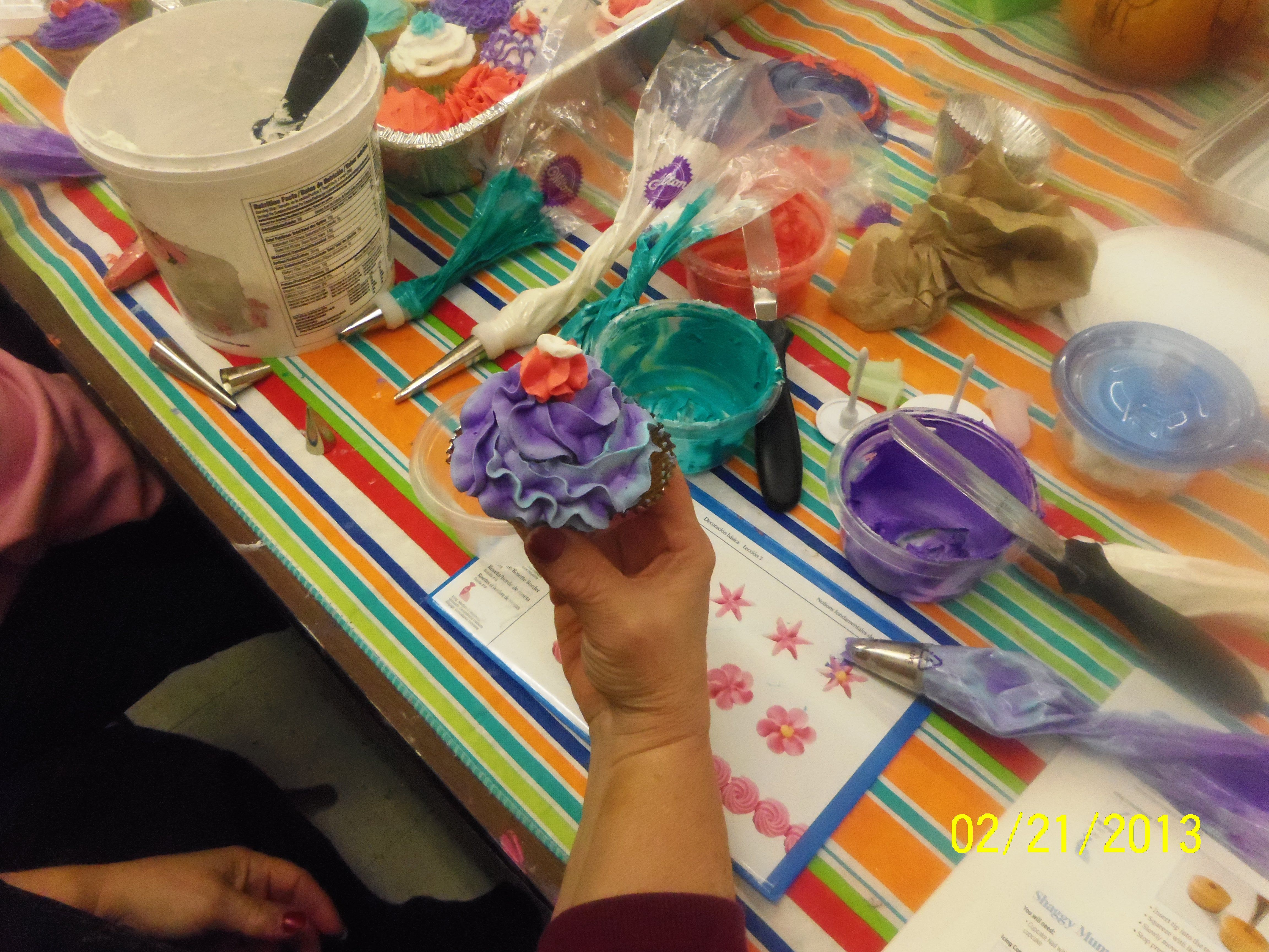 February cupcake class lily pulitzer lily east lansing
