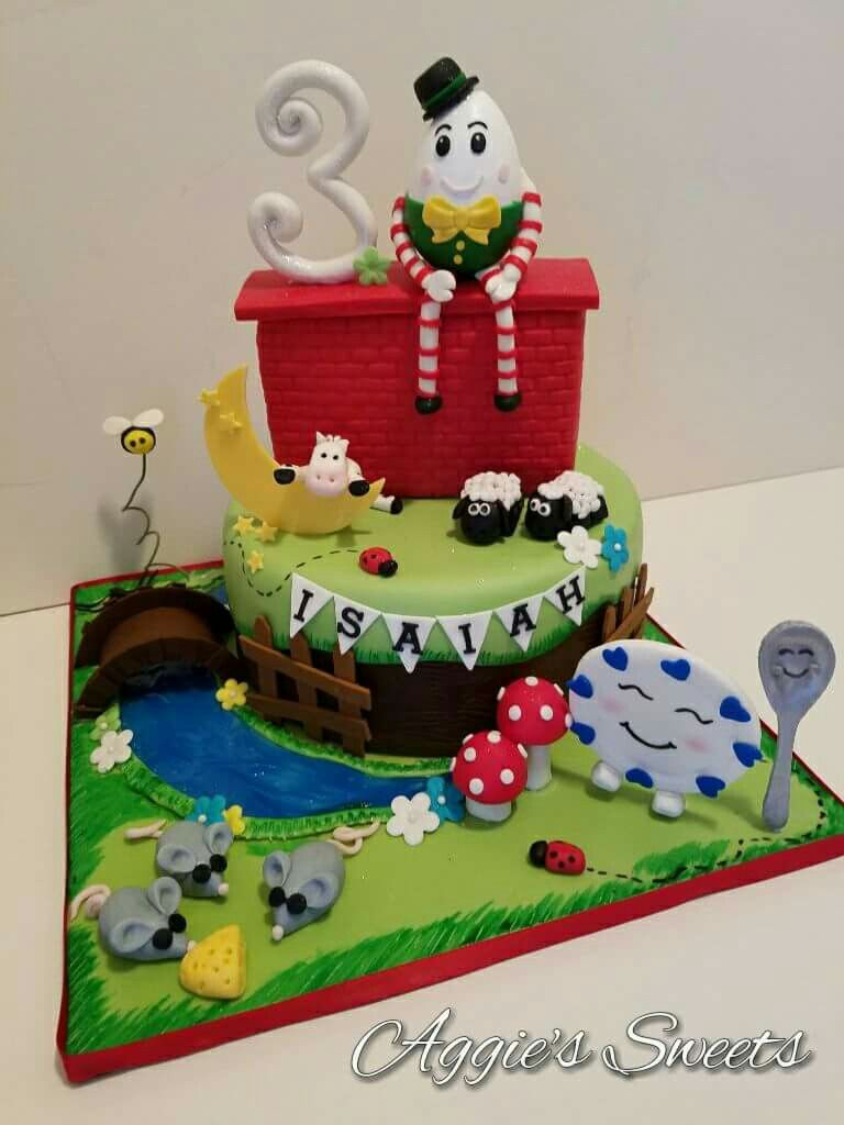 Nursery Rhymes themed birthday cake Aggies Sweets Pinterest