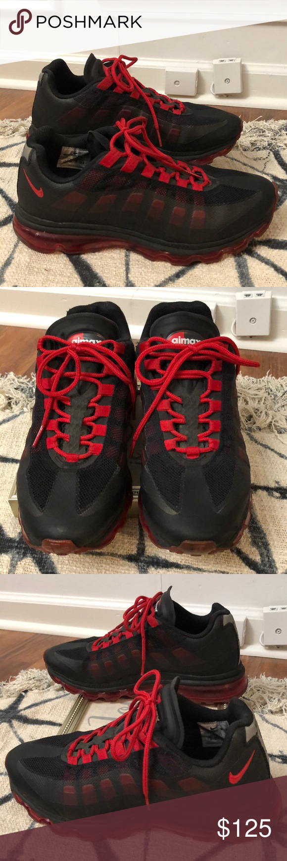 Max Bb Red 2012 Nike Air 95 And Great Used Black Condition rxodCBe