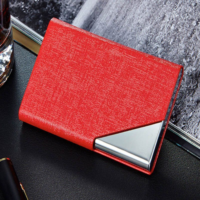 Rfid card holder business card wallet id credit card holder women rfid card holder business card wallet id credit card holder women men leather waterproof card protector colourmoves
