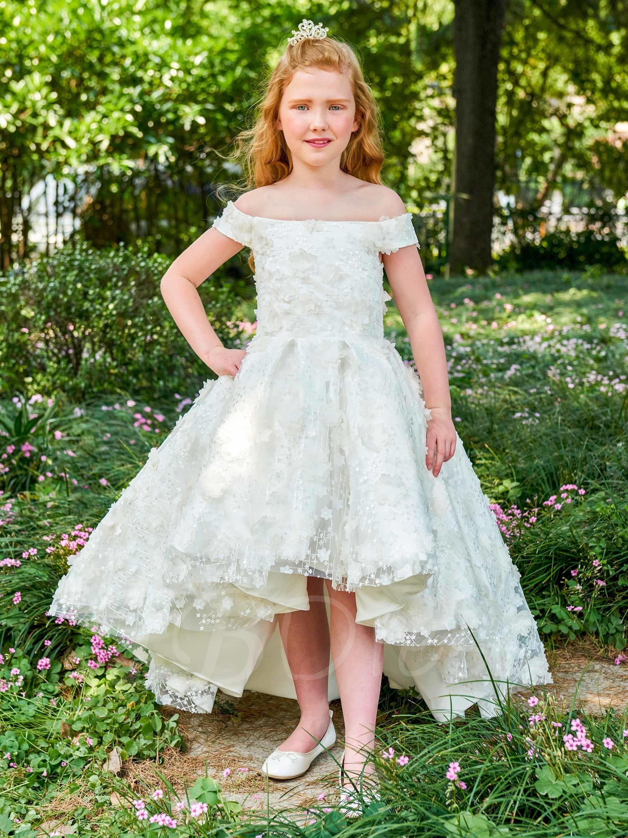 Tbdress tbdress lace offtheshoulder ball gown flower girl dress