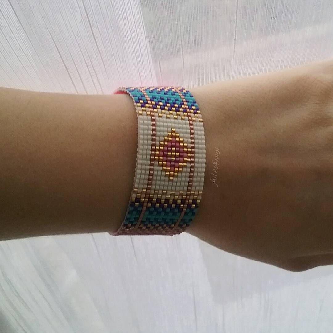 #ailesetmoi #miyuki #miyukiaddict #tissage #manchette #bracelet #delica…