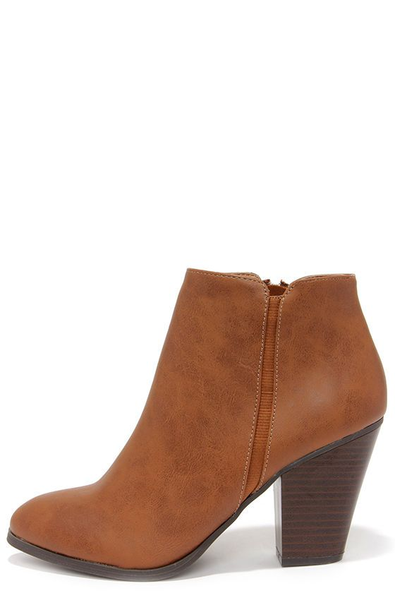 6f0e5974eda0 Chic Street Tan High Heel Ankle Boots
