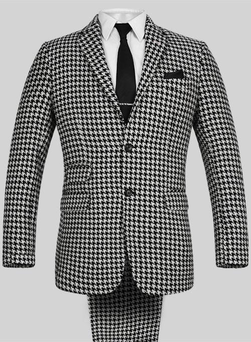 Latest Coat Pant Designs Black White Pattern Formal Slim Fit Prom Tuxedo Gentle Marriage ...
