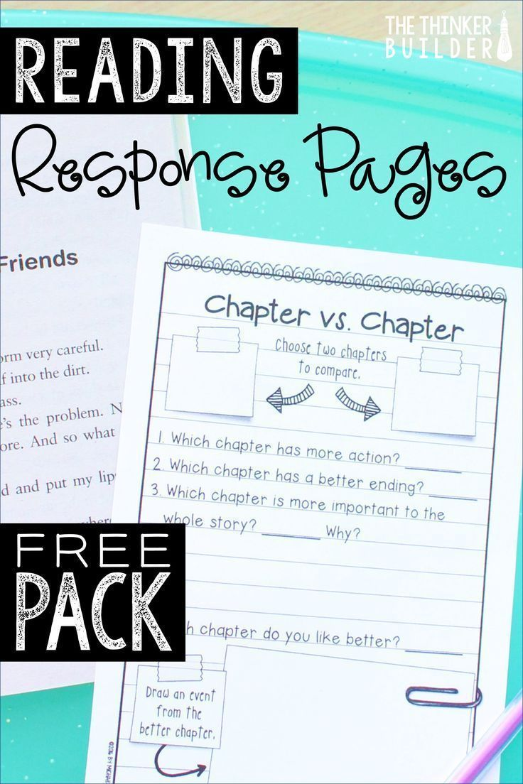 Get a minipack of reading response pages by signing up