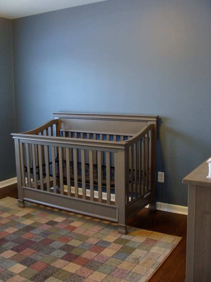 Blue And Gray Nursery The Walls Were Painted With Normandy Benjamin Moore Paint