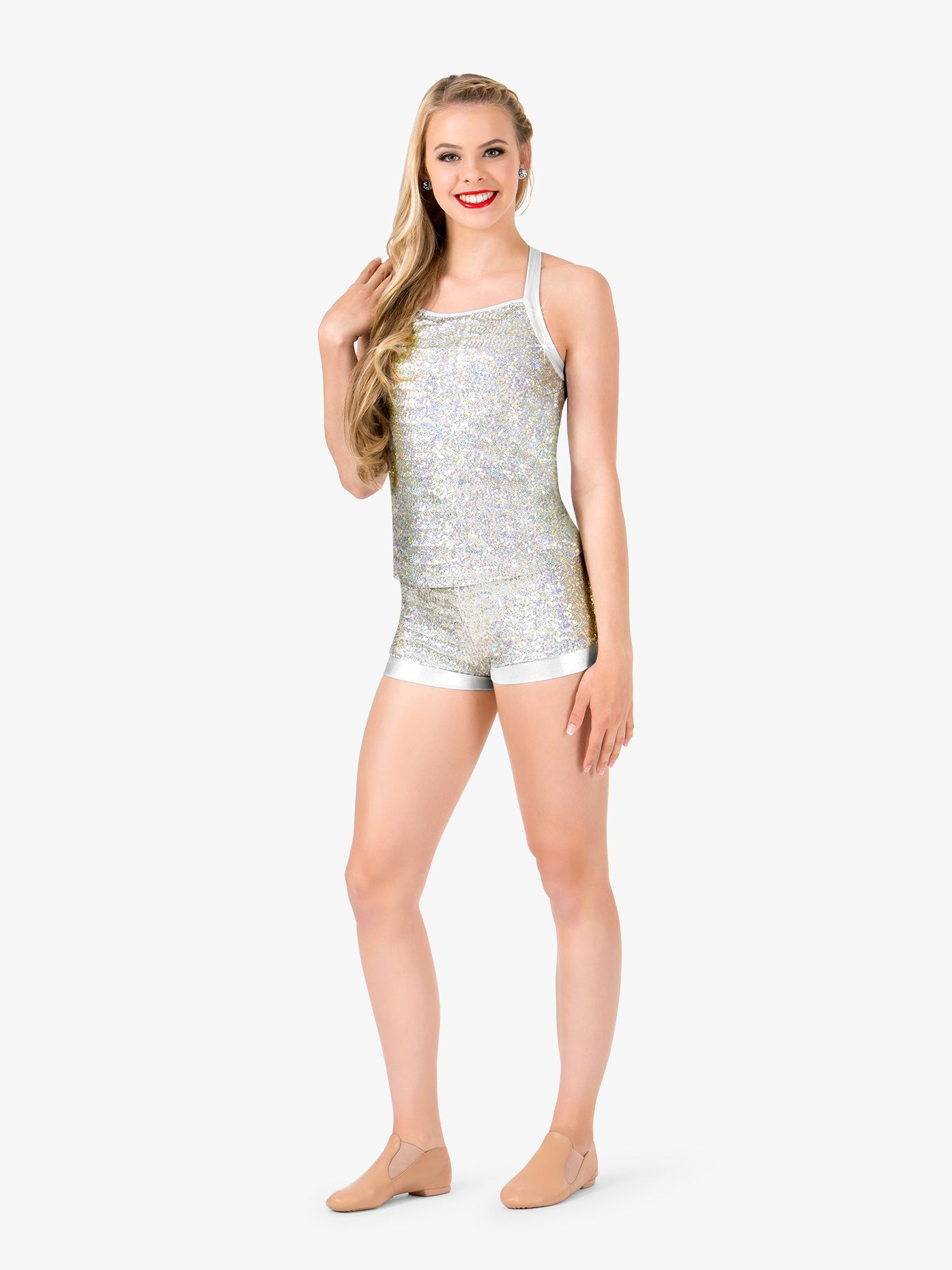 Womens Sequin Banded Dance Shorts in 2019