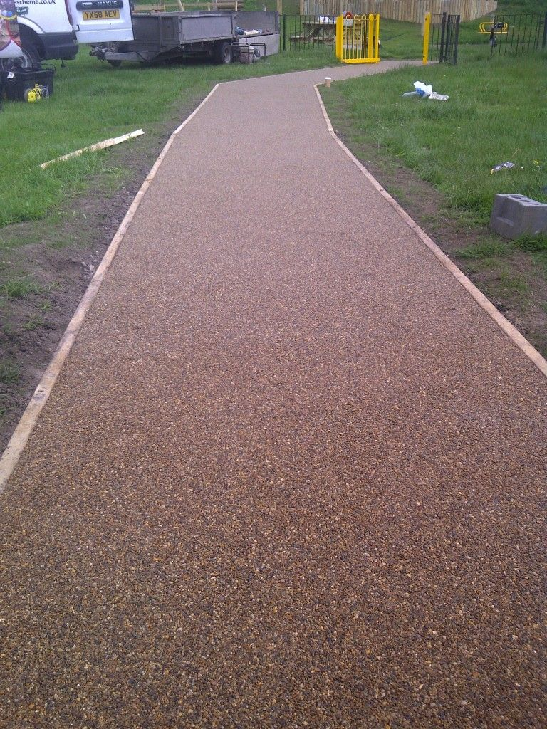 Gravel Driveway With Treated Pine Timber Edging