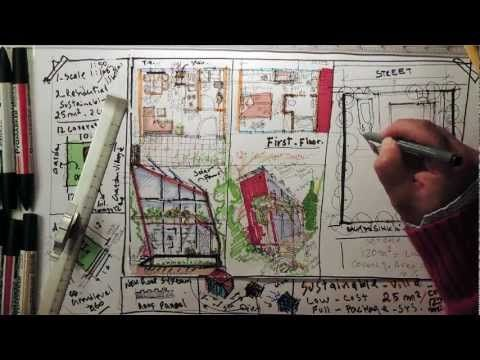 Fast Sketch - Sustainable Low Cost Villa 25 m2