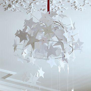 une suspension faite d toiles en papier suspension pinterest. Black Bedroom Furniture Sets. Home Design Ideas