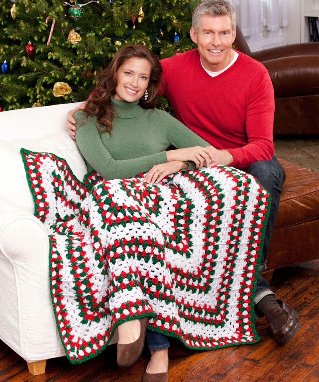 Häkelmuster für Weihnachtsdecke | Crochet afghans | Pinterest ...