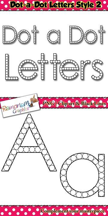 Alphabet Letters Dot A Dot Font Clip Art  Alphabet Letters Clip