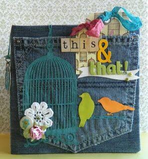 Não jogue o seu jeans velho fora, veja o que você pode fazer...     Álbum feito com jeans passo a passo   Encadernação na agenda, caderno, l...