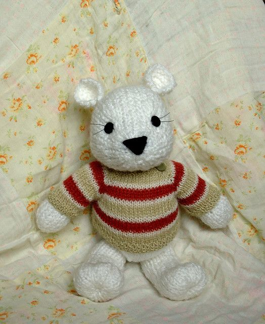 Knitted Sweater for a Big Teddy (Finished dimensions: 4.5 ...