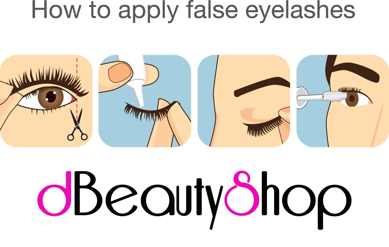 How to put on false eye lashes - a step by step guide to ...