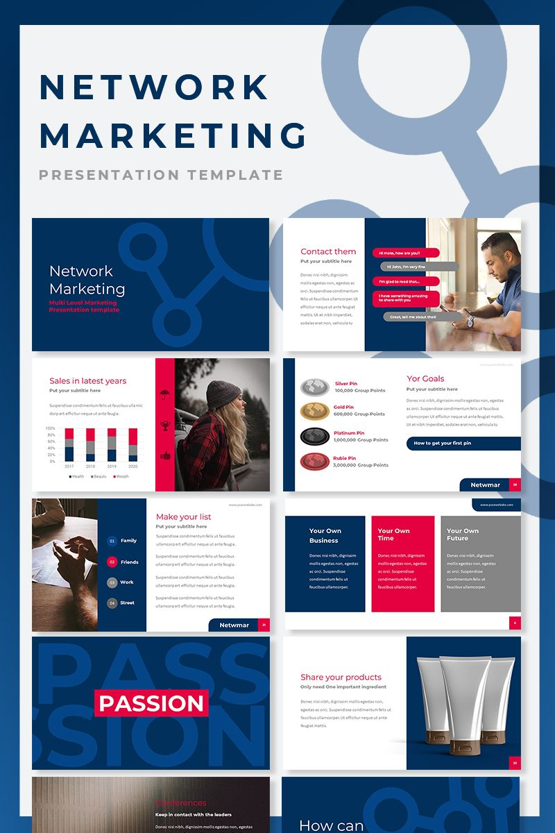 Network Marketing Powerpoint Presentation Template For