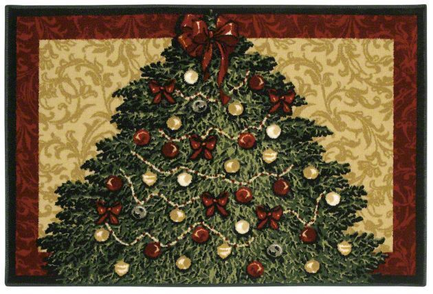 Holiday Collection Christmas Tree 3p173 Shaw Area Rug Georgia Carpet Industries